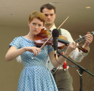 Nicolette on fiddle