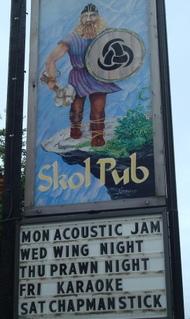 Skol Pub sign, on Gabriola Island