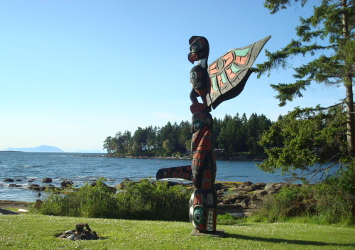 Totem pole at The Haven